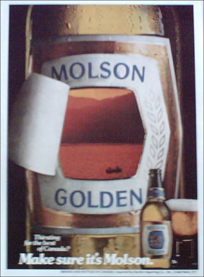 1980 Molson Golden Beer ad #1