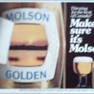 1980 Molson Golden Beer ad #2