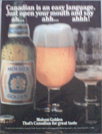 1982 Molson Golden Beer ad