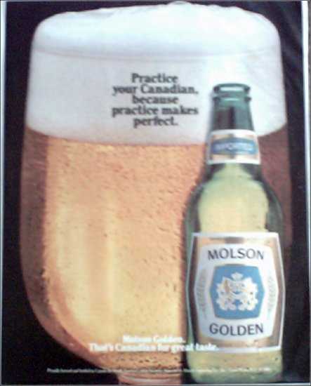 Molson Golden Beer ad