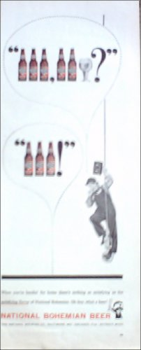 1957 National Bohemian Beer ad