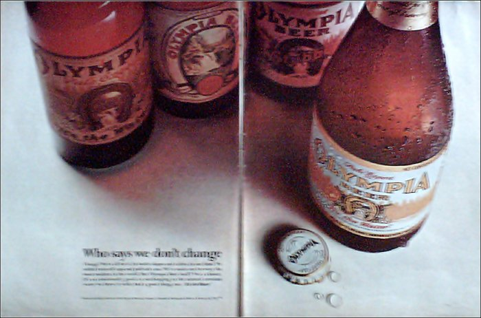 1969 Olympia Beer ad