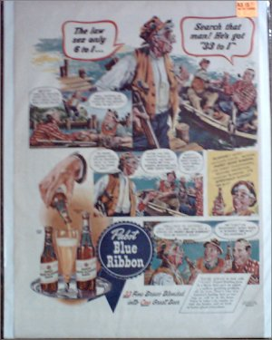 1942 Pabst Blue Ribbon Beer ad #1