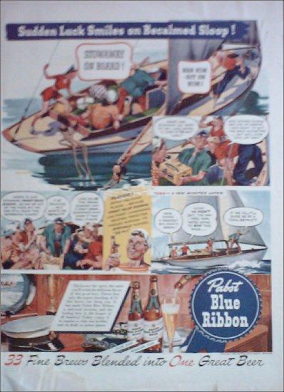 1942 Pabst Blue Ribbon Beer ad #3