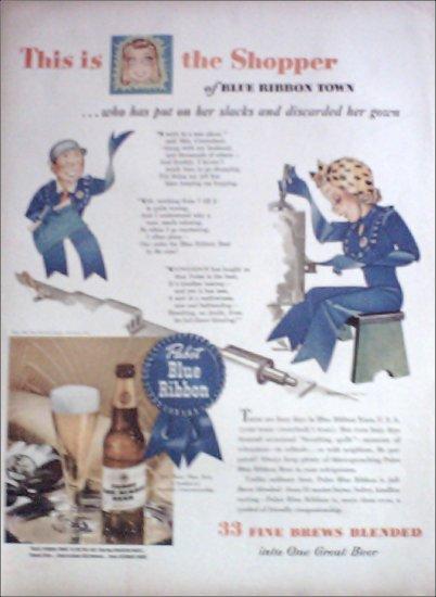 1943 Pabst Blue Ribbon Beer ad #1