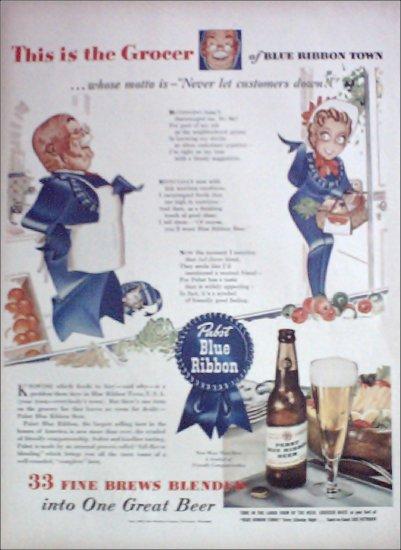 1943 Pabst Blue Ribbon Beer ad #2