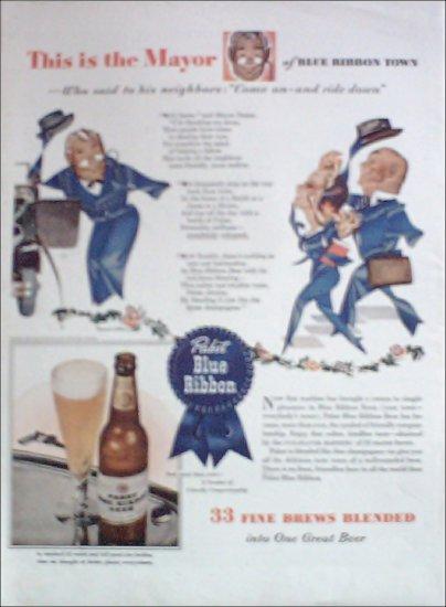1943 Pabst Blue Ribbon Beer ad #4