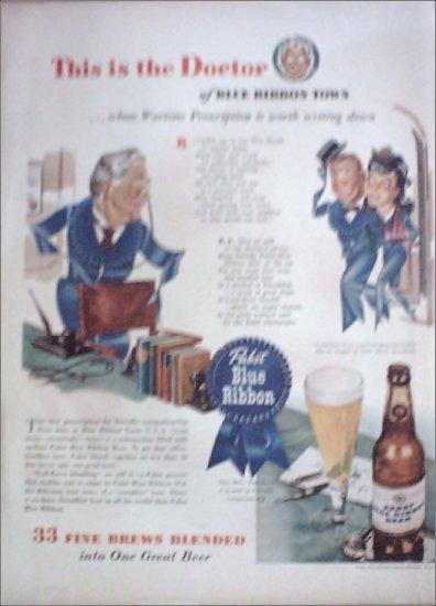 1943 Pabst Blue Ribbon Beer ad #5