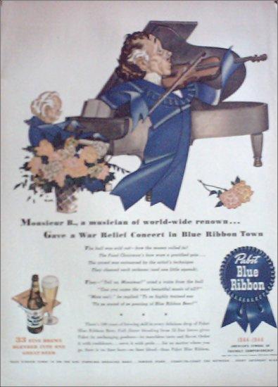 1944 Pabst Blue Ribbon Beer ad