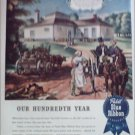 1944 Pabst Blue Ribbon Beer 100th Anniversary ad