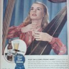 1945 Pabst Blue Ribbon Beer Harp ad