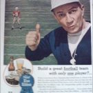 1945 Pabst Blue Ribbon Beer Football ad