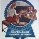 1947 Pabst Blue Ribbon Beer Couple ad