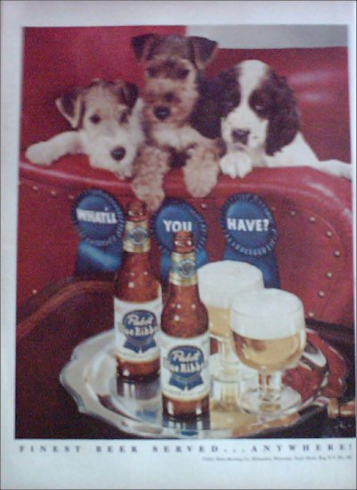 1951 Pabst Blue Ribbon Beer ad