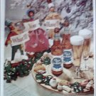 1951 Pabst Blue Ribbon Beer Christmas ad