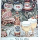1952 Pabst Blue Ribbon Beer Christmas ad