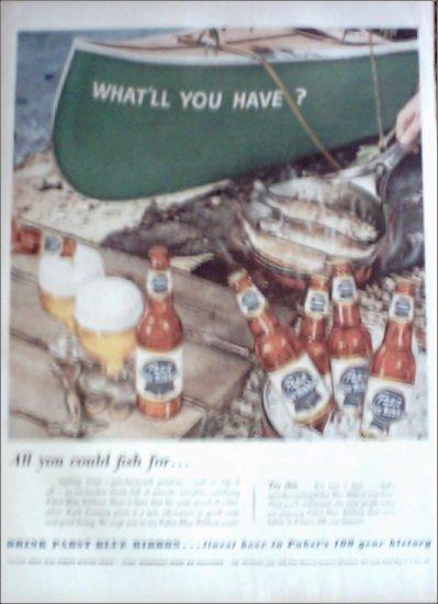 1953 Pabst Blue Ribbon Beer ad #1