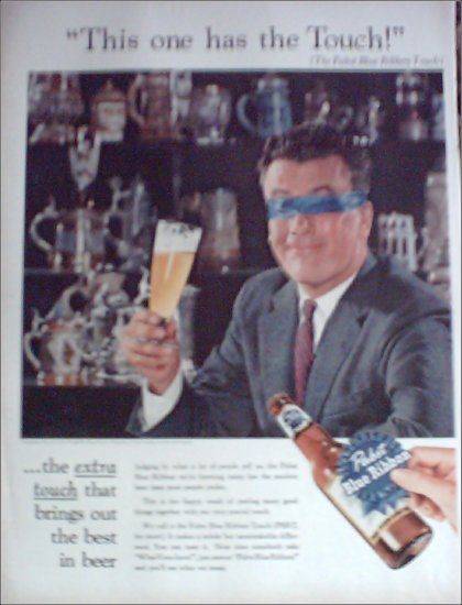 Pabst Blue Ribbon Beer ad #1