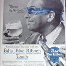 1956 Pabst Blue Ribbon Beer ad #2