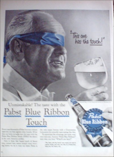 1956 Pabst Blue Ribbon Beer ad #3