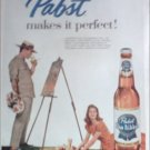 1958 Pabst Blue Ribbon Beer ad