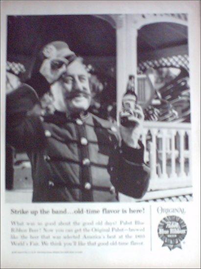 1960 Pabst Blue Ribbon Beer ad #2