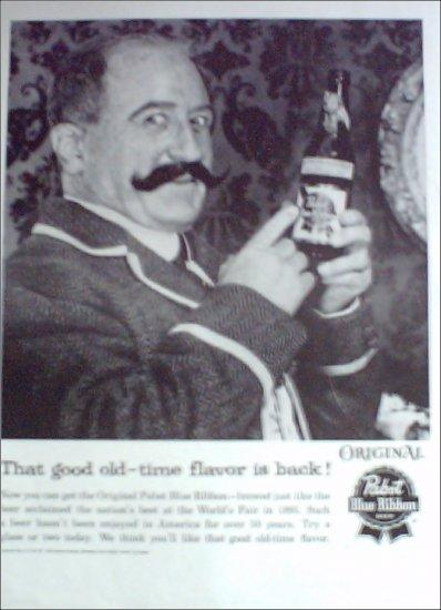 1960 Pabst Blue Ribbon Beer ad #4