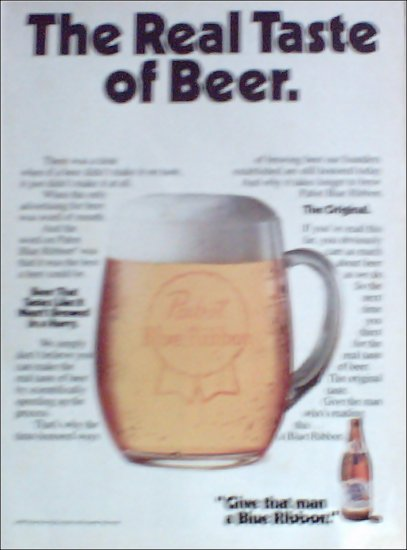 1981 Pabst Blue Ribbon Beer ad