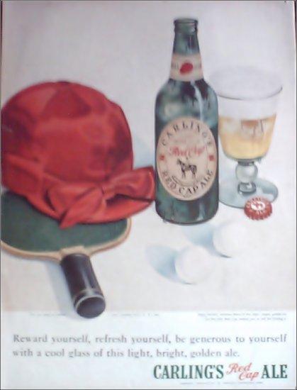 1949 Red Cap Ale Paddle ad