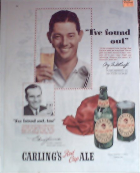 1950 Red Cap Ale ad featuring Dr Carey Middlecoff