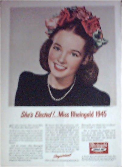 1945 Rheingold Beer Miss Rheingold is elected ad
