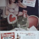 1948 Rheingold Beer ad featuring Miss Rheingold Pat Quinlan