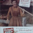 1952 Rheingold Beer ad featuring Miss Rheingold Anne Hogan