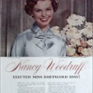 1955 Rheingold Beer Nancy Woodruff elected Miss Rheingold ad