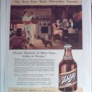 1937 Schlitz Beer Steinie Bottle ad