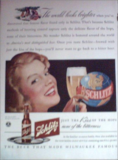 1942 Schlitz Beer ad #2
