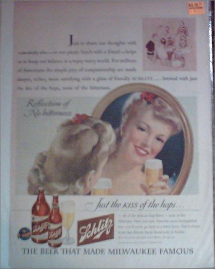 1943 Schlitz Beer ad #1