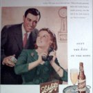 1945 Schlitz Beer Couple ad