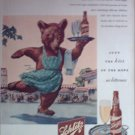 1945 Schlitz Beer Bear ad