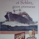 1945 Schlitz Beer Ship ad