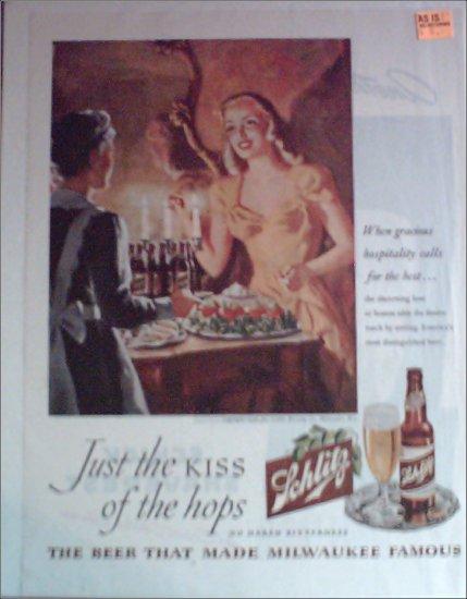 1946 Schlitz Beer ad #1