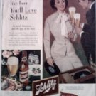 1953 Schlitz Beer ad