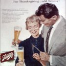 1956 Schlitz Beer Thanksgiving ad