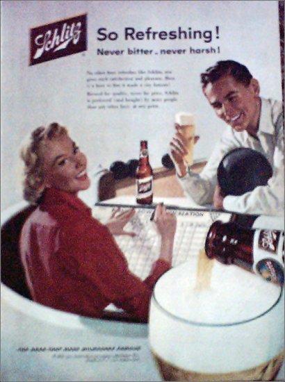 1956 Schlitz Beer ad #3