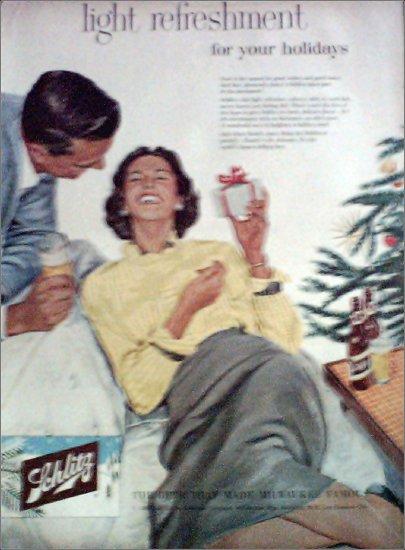 1956 Schlitz Beer Christmas ad