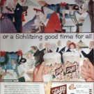 1957 Schlitz Beer Christmas ad