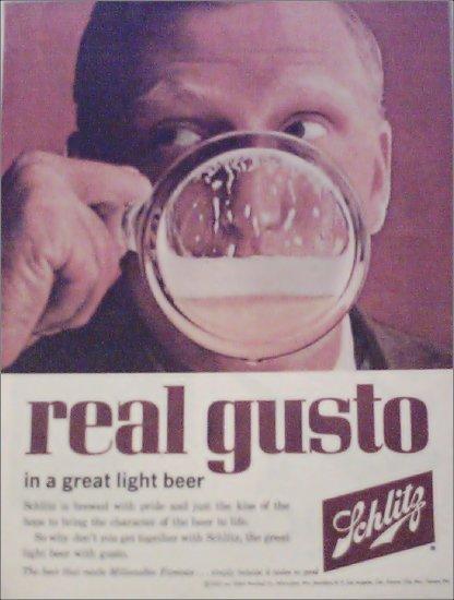 1962 Schlitz Beer ad #4