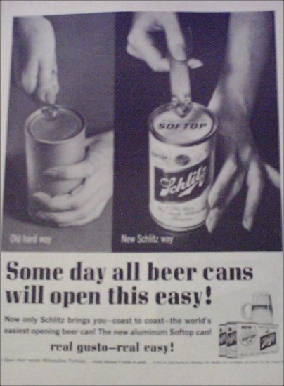 1962 Schlitz Beer Soft Top ad