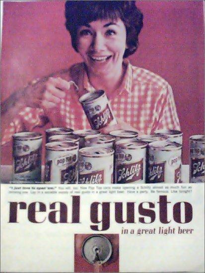 1963 Schlitz Beer Pop Top ad #1