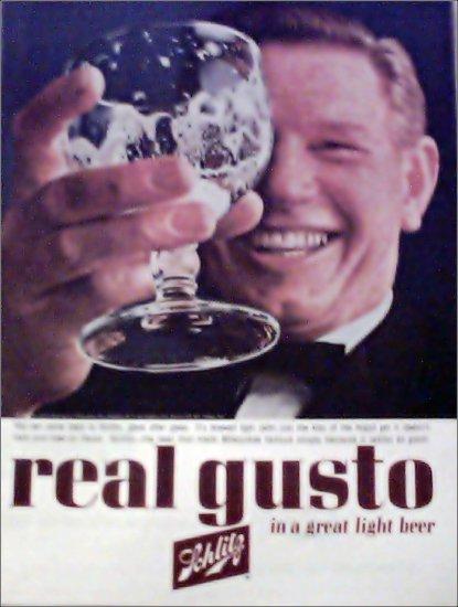 1963 Schlitz Beer ad #1